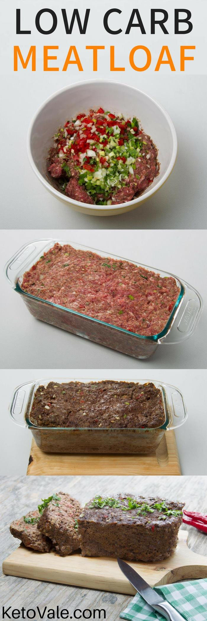 Easy Low Carb Meatloaf  Easy Beef Meatloaf Low Carb Recipe