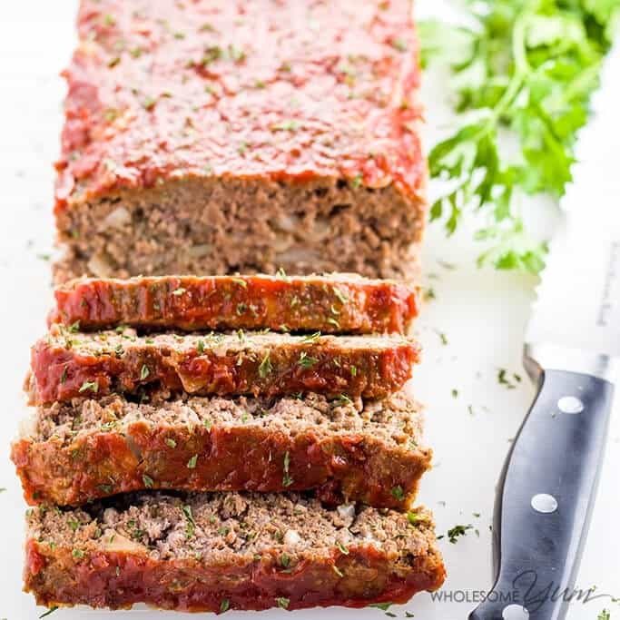 Easy Low Carb Meatloaf  Paleo Keto Low Carb Meatloaf Recipe VIDEO