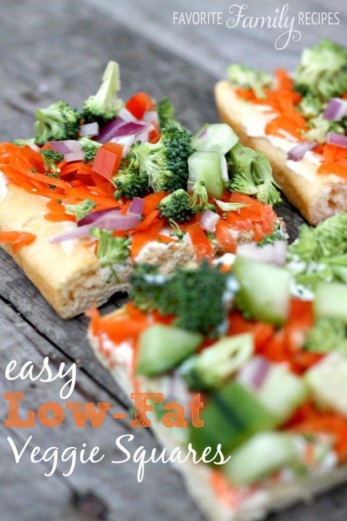 Easy Low Cholesterol Recipes  Low Fat Veggie Squares Recipe