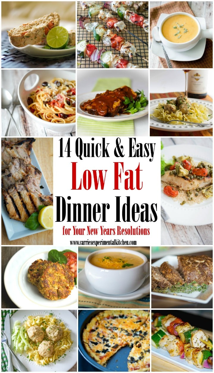 Easy Low Cholesterol Recipes For Dinner  14 Quick & Easy Low Fat Dinner Ideas for your New Years