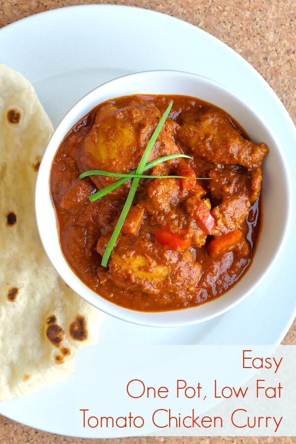 Easy Low Fat Chicken Recipes  Easy e Pot Low Fat Tomato Chicken Curry mild ot hot