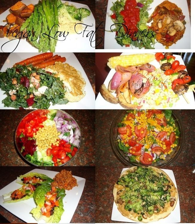 Easy Low Fat Dinners  vegan high carb low fat dinners