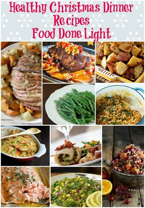 Easy Low Fat Dinners  Healthy Christmas Dinner Recipes Low Calorie Low Fat Pin