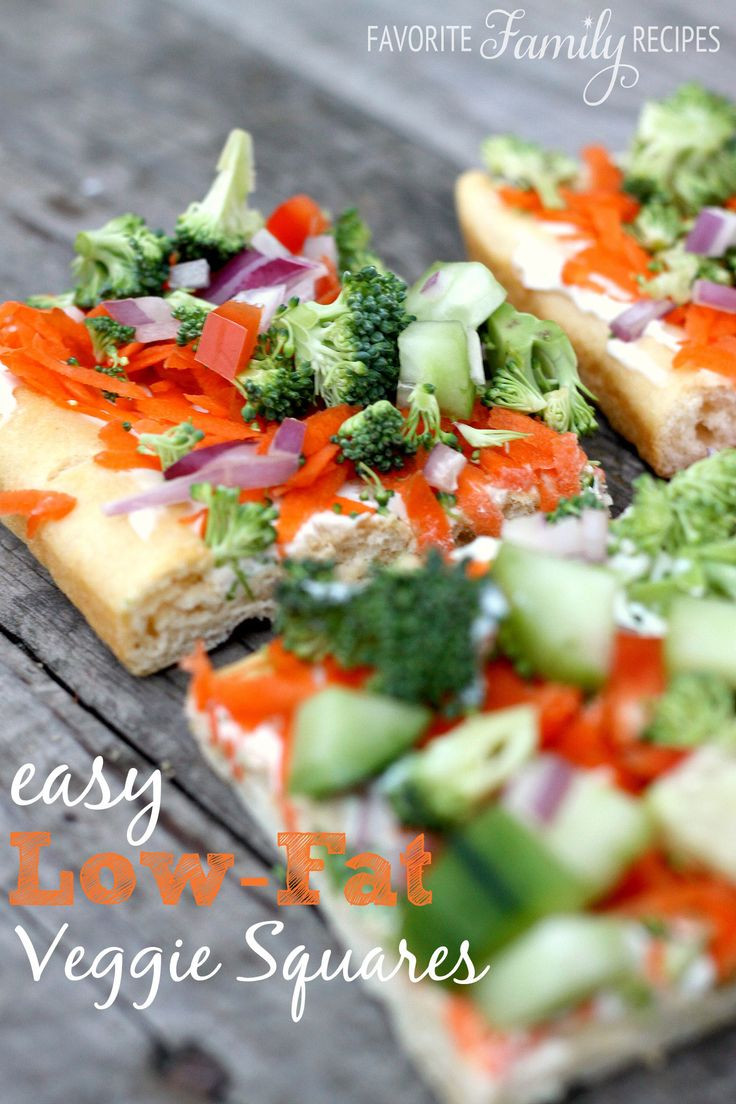Easy Low Fat Recipes  Veggie Squares Appetizers Crescent Rolls