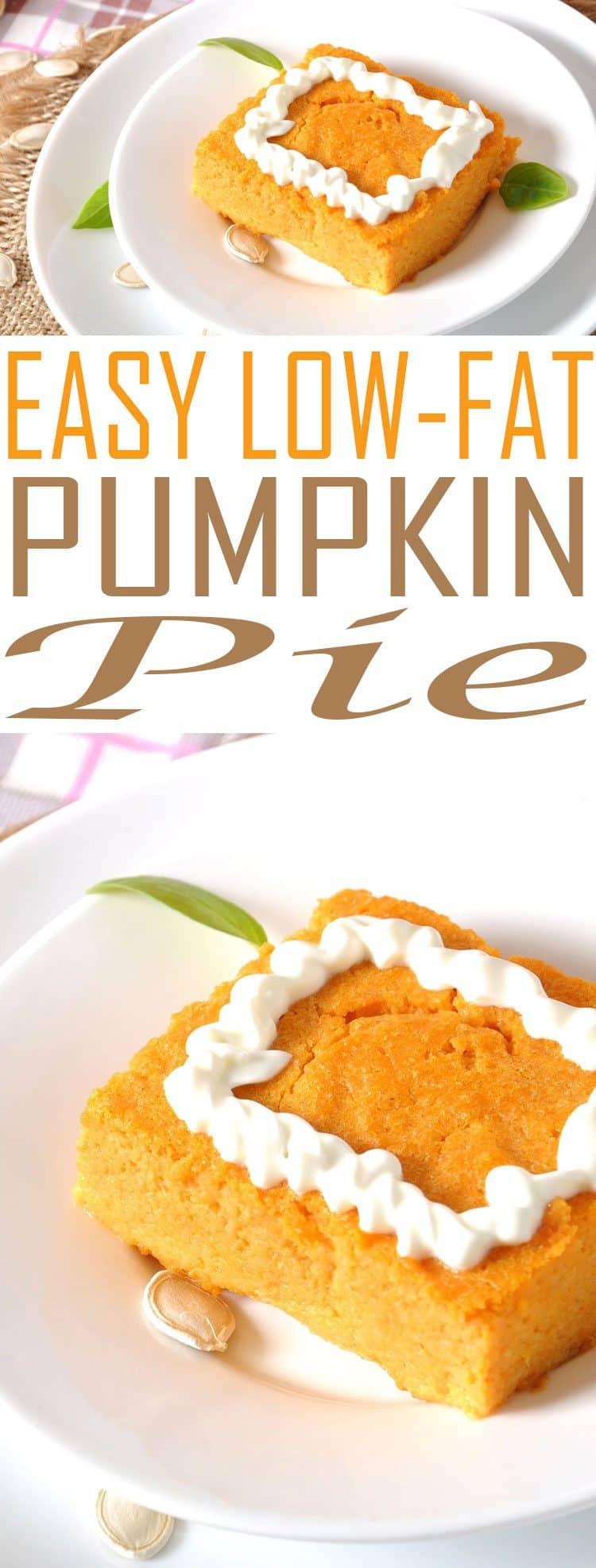 Easy Low Fat Recipes  Weight Watchers Pumpkin Pie Just 1 4 Smart Points Per