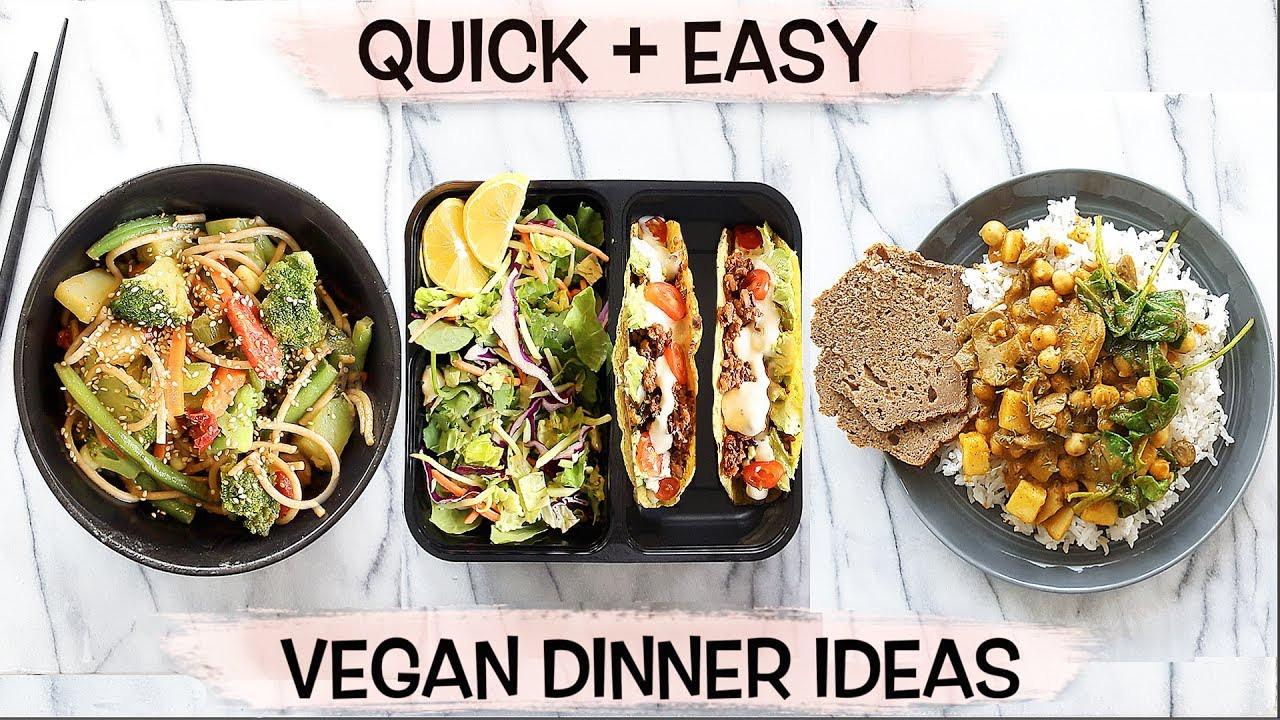 Easy Quick Vegan Dinners  BOMB VEGAN DINNER IDEAS Quick Easy in Under 15 Mins