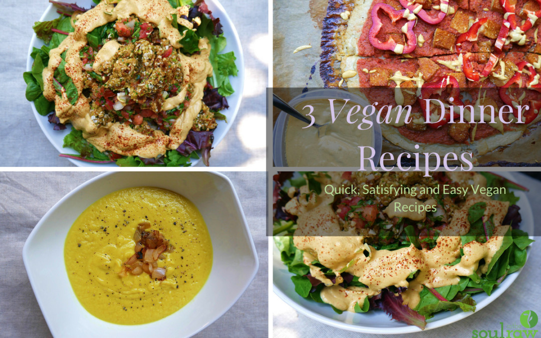 Easy Quick Vegan Dinners  3 Vegan Dinner Recipes Quick Satisfying and Easy Vegan