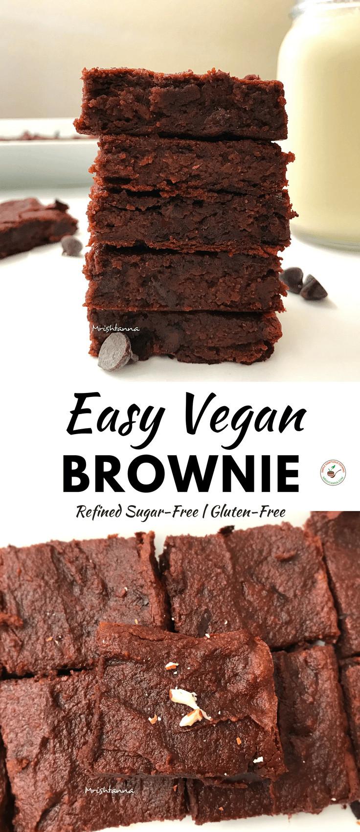 Easy Vegan Brownies Easy Vegan Brownie Simple Sumptuous Cooking