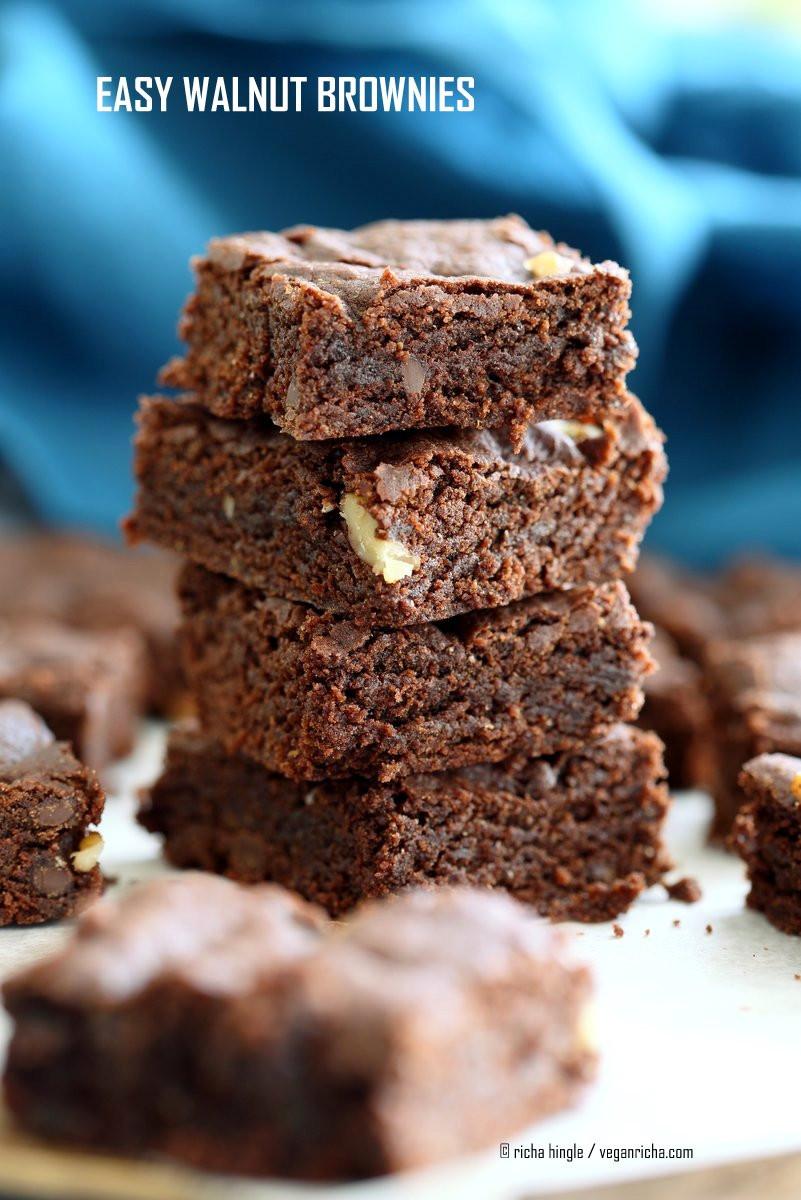 Easy Vegan Brownies Easy Vegan Brownies Recipe Vegan Richa