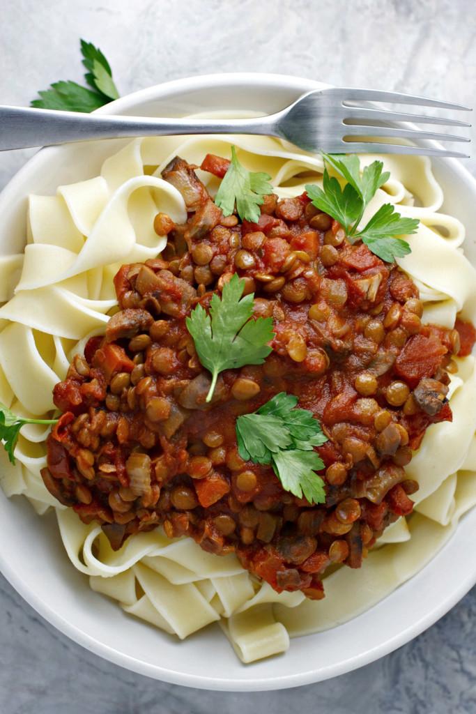 Easy Vegan Crock Pot Recipes  crock pot lentil bolognese vegan BeginWithin Nutrition