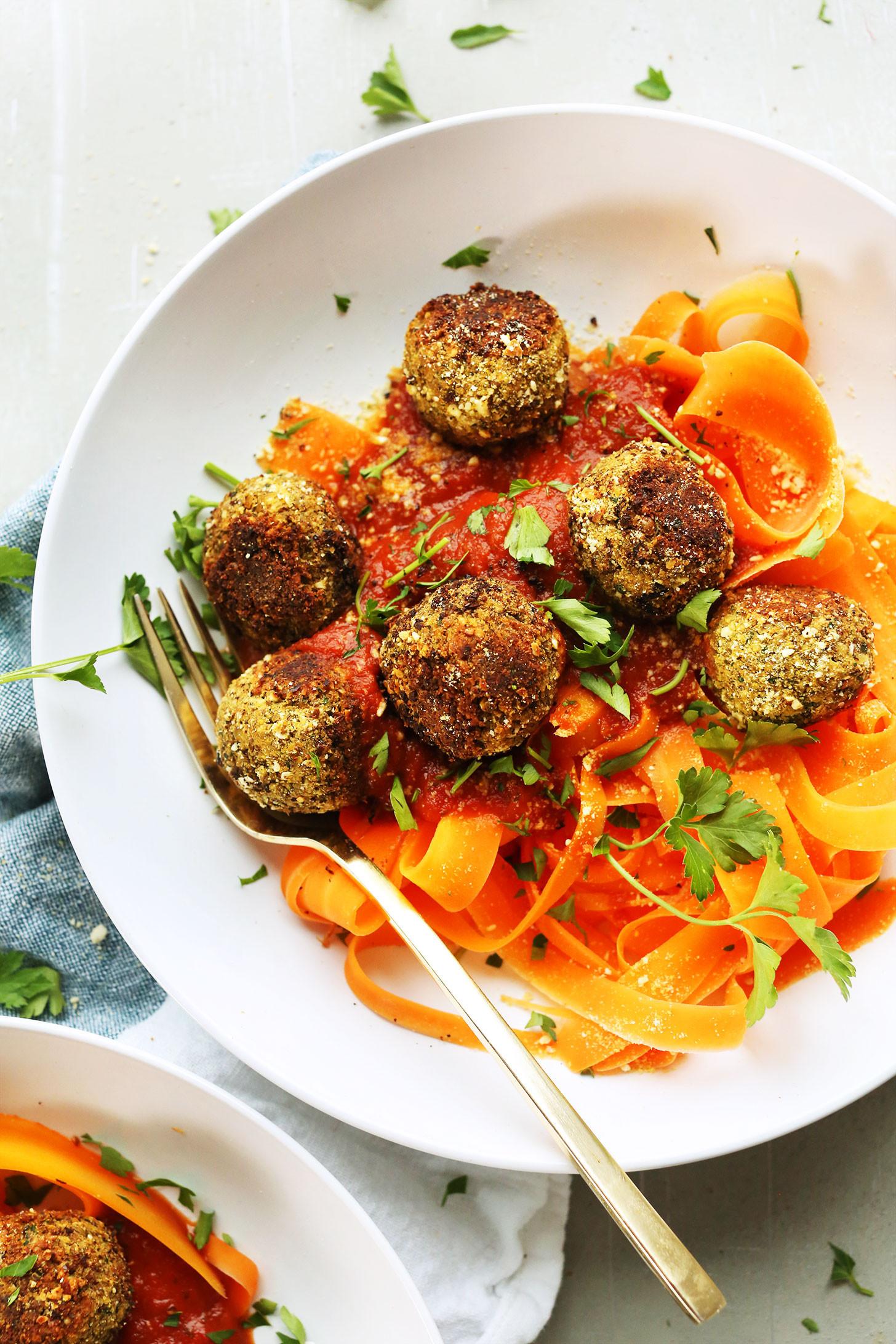 Easy Vegan Lentil Recipes  Easy Lentil Meatballs Vegan GF