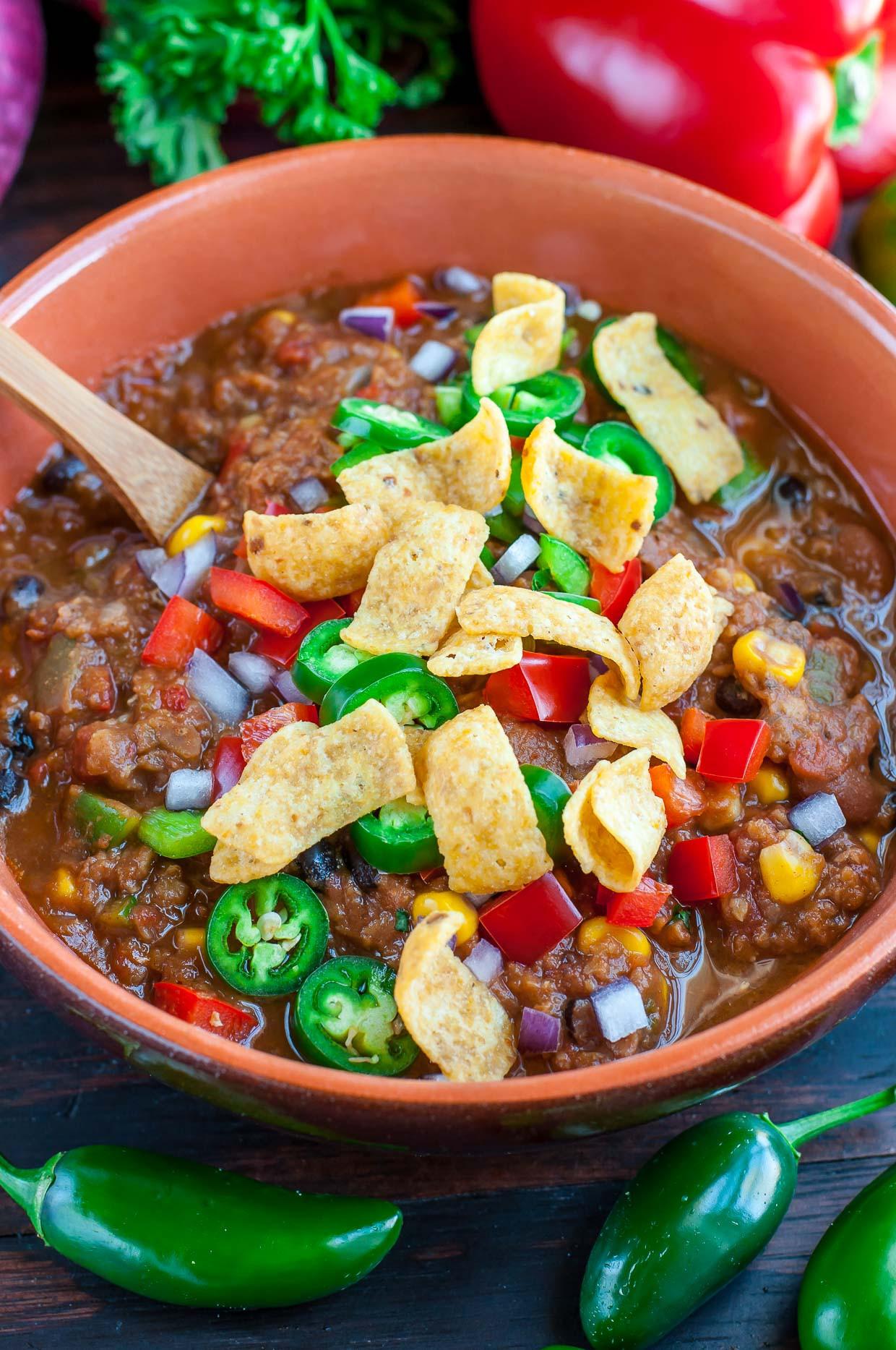 Easy Vegan Lentil Recipes  Vegan Lentil Chili Peas And Crayons