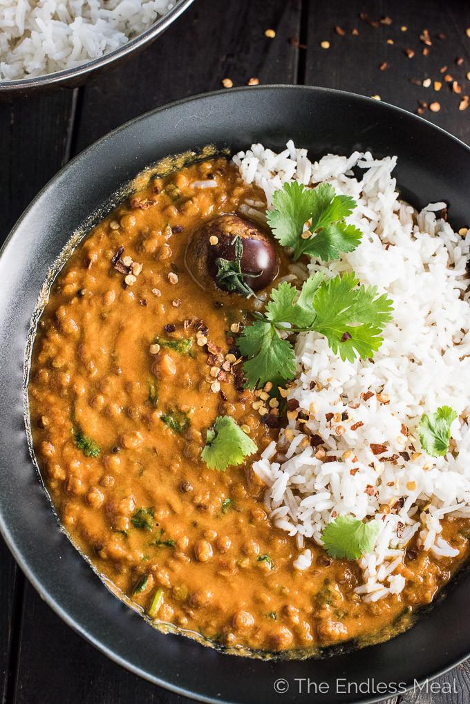 Easy Vegan Lentil Recipes  Creamy Coconut Lentil Curry