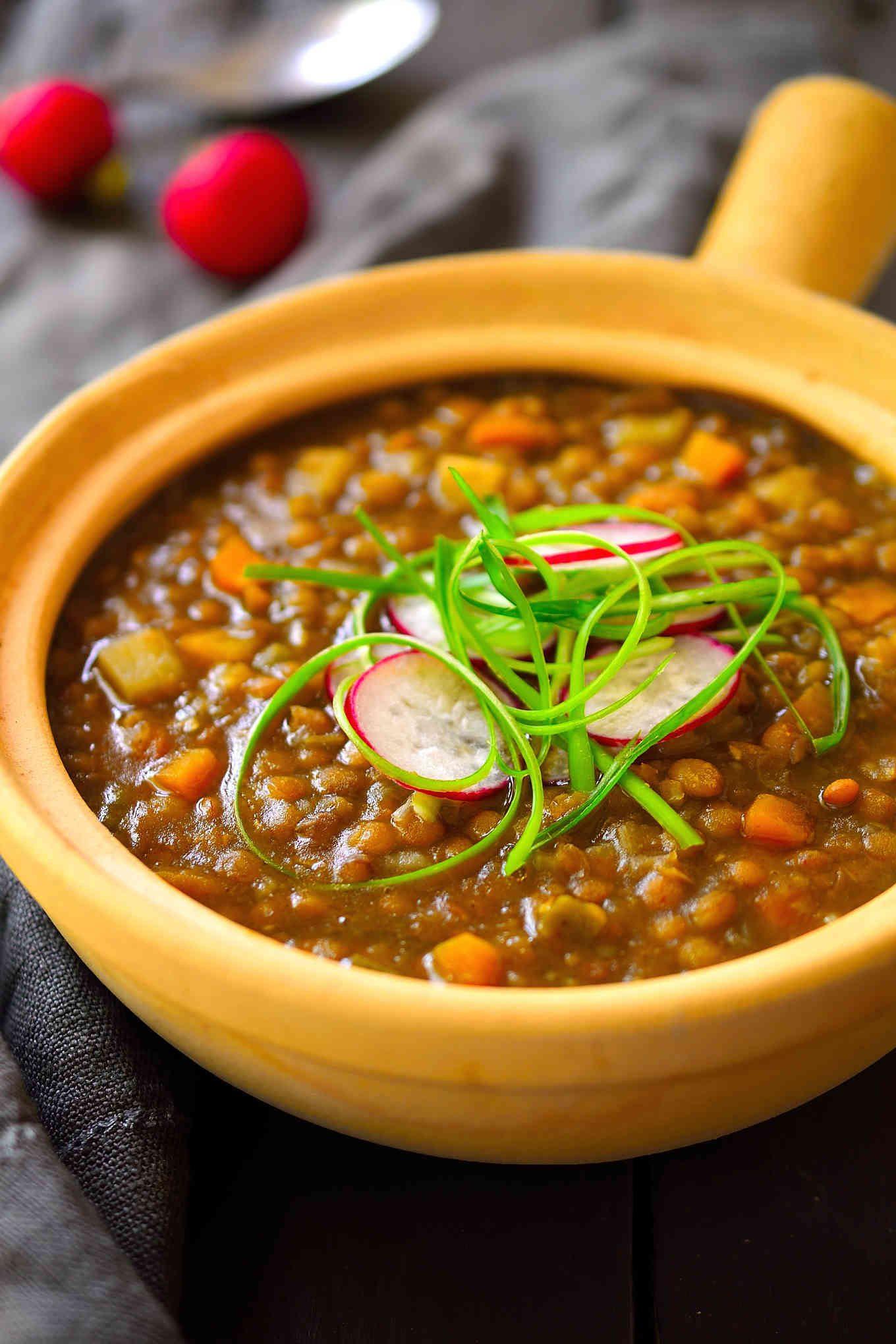 Easy Vegan Lentil Recipes  Spanish Style Vegan Lentil Stew