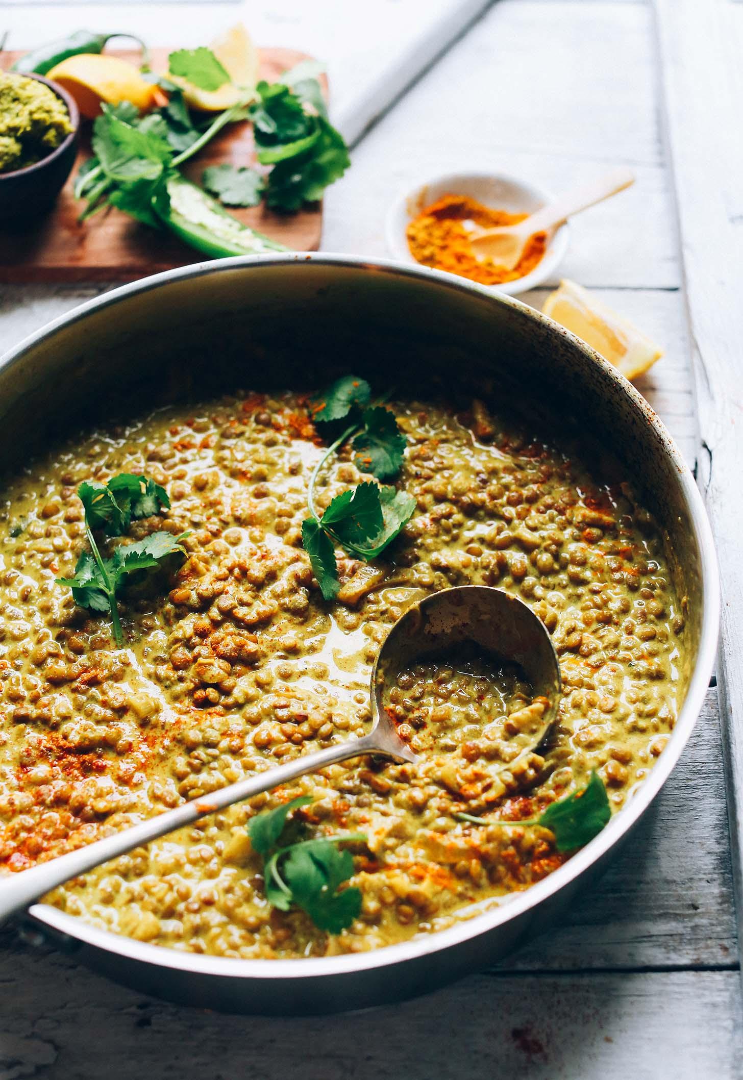 Easy Vegan Lentil Recipes  1 Pot Lentil Dal