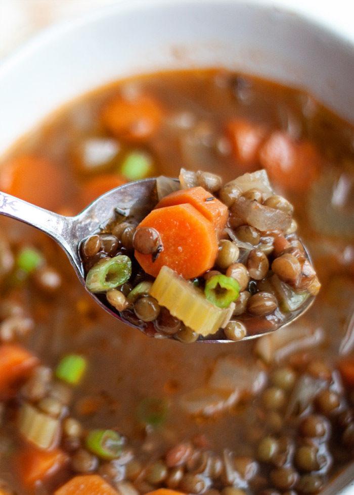 Easy Vegan Lentil Recipes  simple lentil soup recipe ve arian