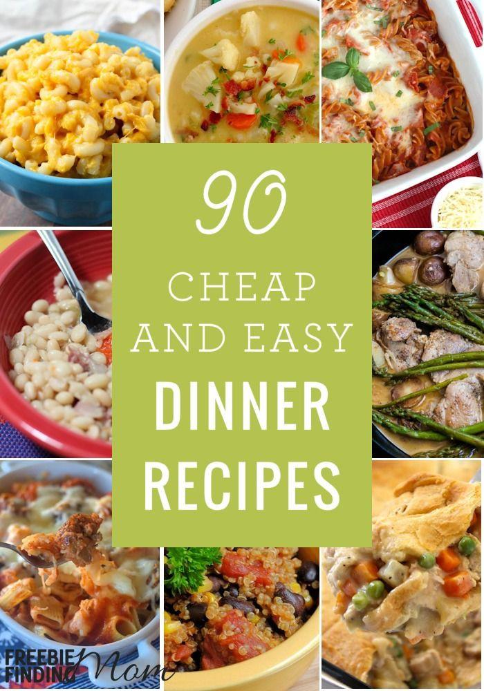 Easy Vegetarian Dinner Recipes For Family  90 Cheap Quick Easy Dinner Recipes