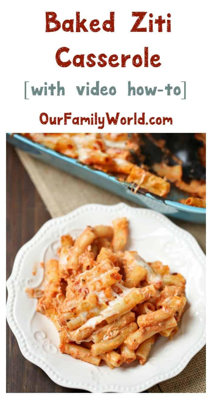 Easy Vegetarian Dinner Recipes For Family  Baked Ziti Casserole Easy Ve arian Dinner Recipe Our