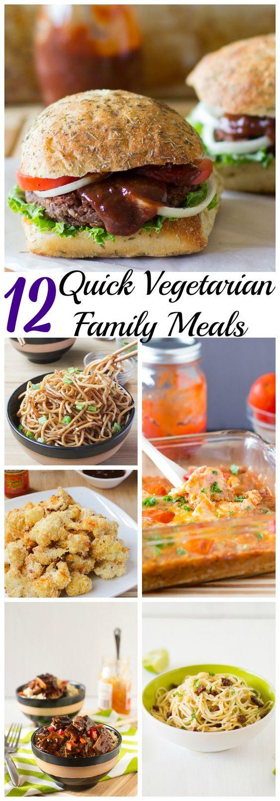 Easy Vegetarian Dinner Recipes For Family  12 Quick Ve arian Family Meals