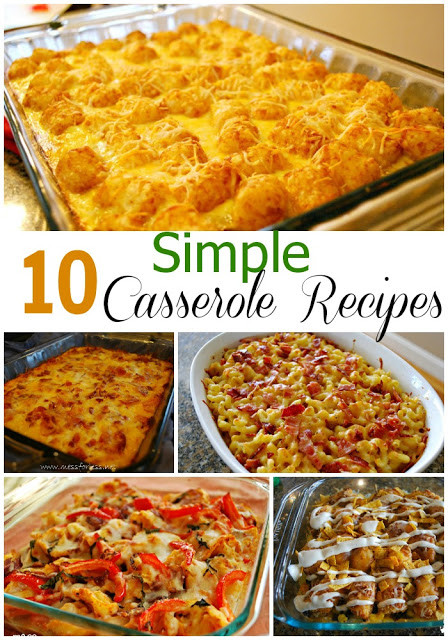 Easy Vegetarian Dinner Recipes For Family  10 Simple Casserole Recipes Food Fun Friday Mess for Less