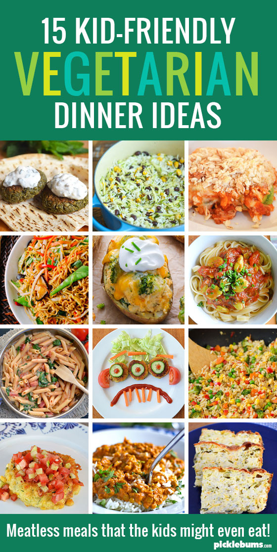 Easy Vegetarian Dinner Recipes For Family  15 Kid Friendly Ve arian Dinners Picklebums