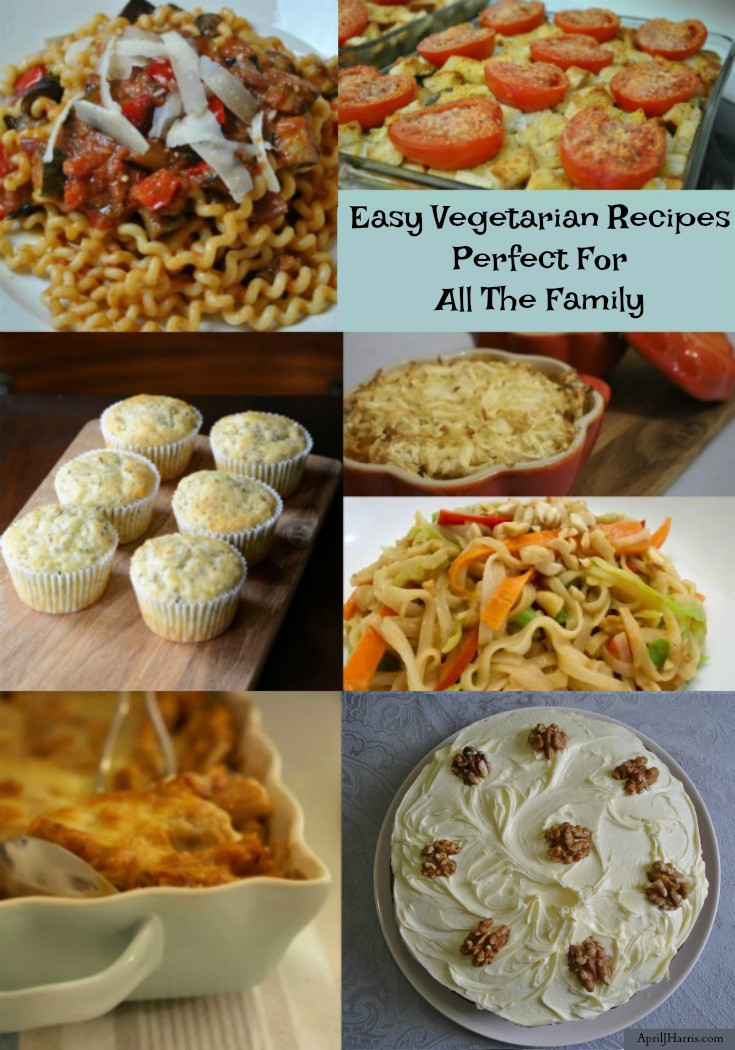 Easy Vegetarian Dinner Recipes For Family  Ve arian Recipes Collection April J Harris