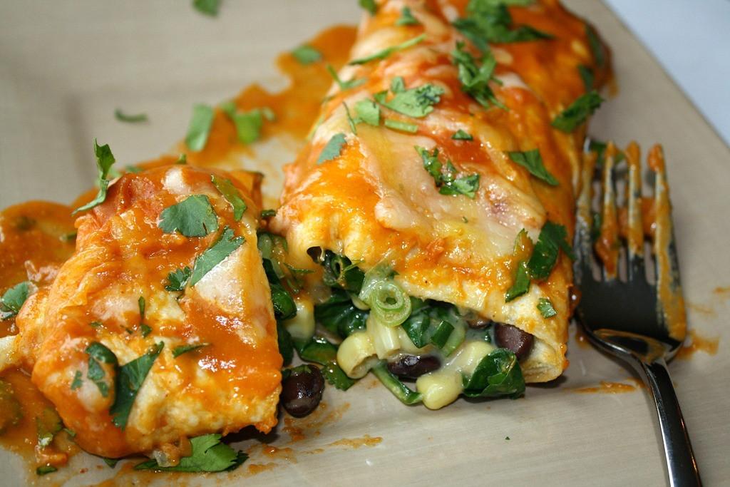 Easy Vegetarian Enchiladas  The Garden Grazer Black Bean Spinach Enchiladas