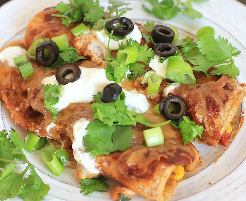 Easy Vegetarian Enchiladas  Easy Ve arian Enchiladas Gluten Free Tips To Reduce