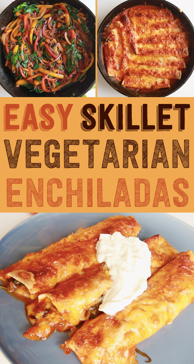Easy Vegetarian Enchiladas  These Easy Ve arian Enchiladas Will Be Your New Go To Meal