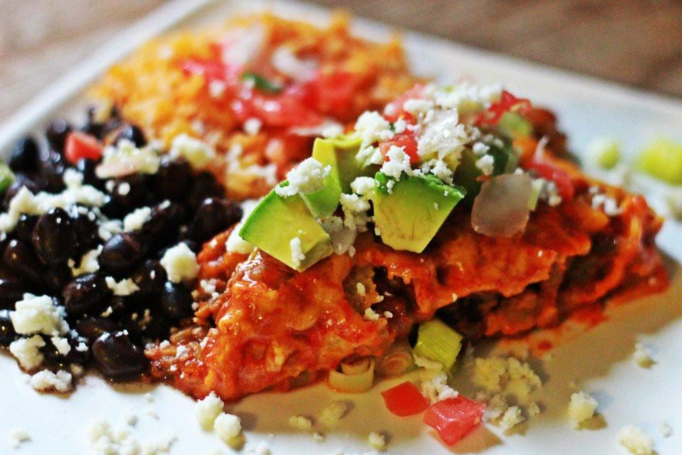 Easy Vegetarian Enchiladas  Easy Ve arian Enchilada's