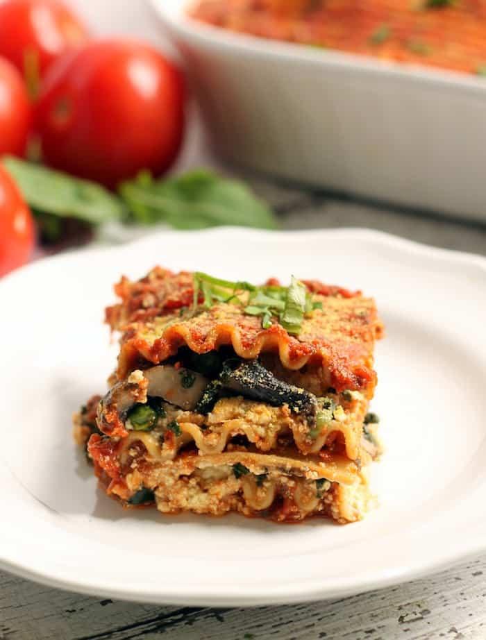 Easy Vegetarian Lasagna  The Best Easy Vegan Lasagna