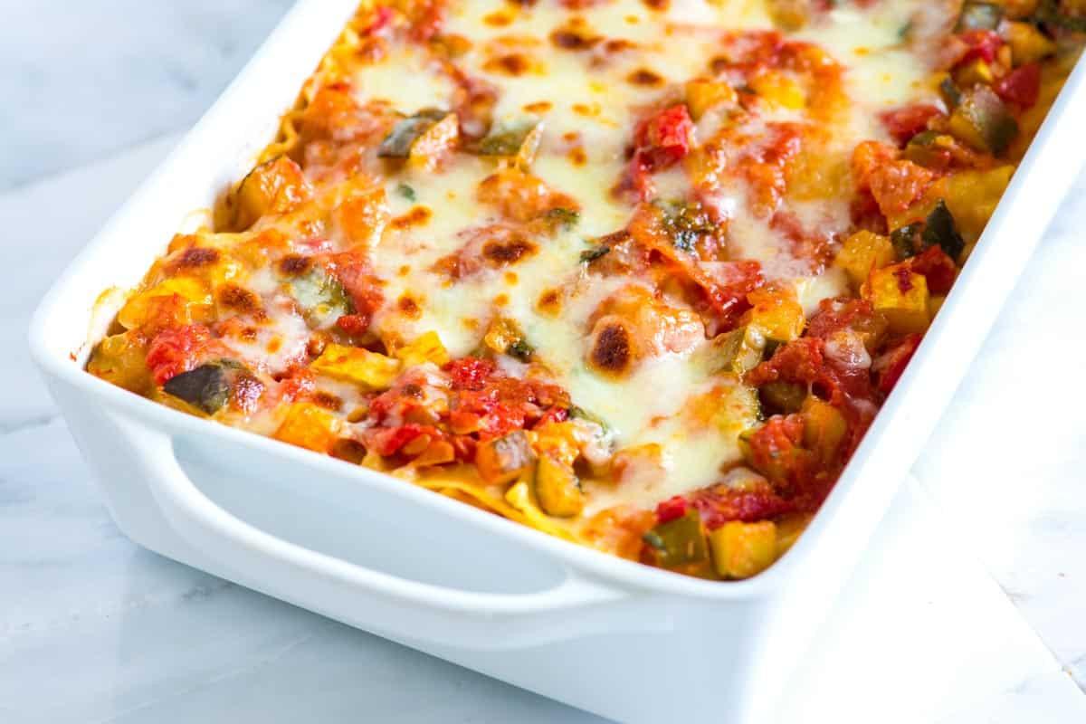 Easy Vegetarian Lasagna  Crave Worthy Sausage and Beef Lasagna Recipe