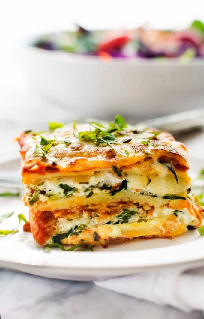 Easy Vegetarian Lasagna  Easy Ve able Lasagna Recipe Wendy Polisi