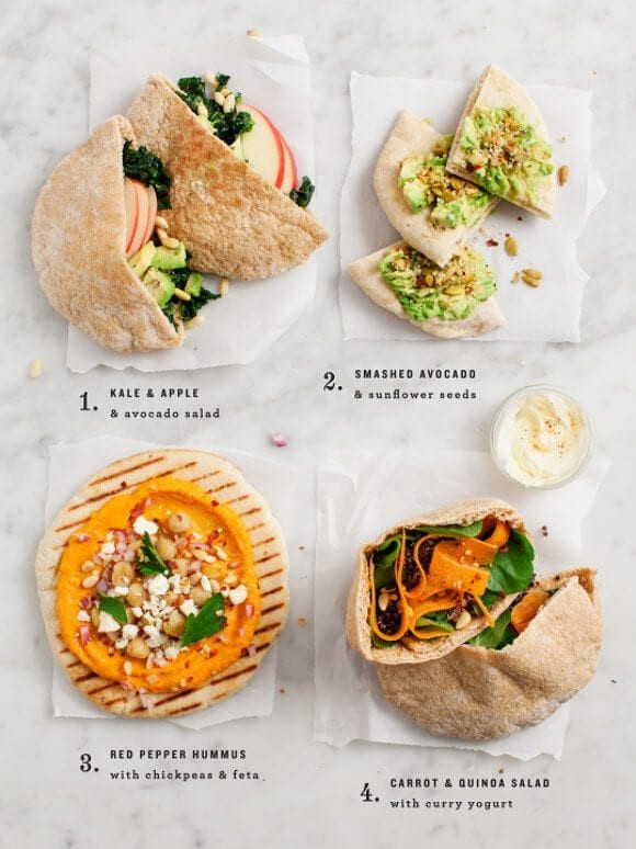 Easy Vegetarian Lunch Recipes  Easy pita lunch ideas Recipe Love and Lemons