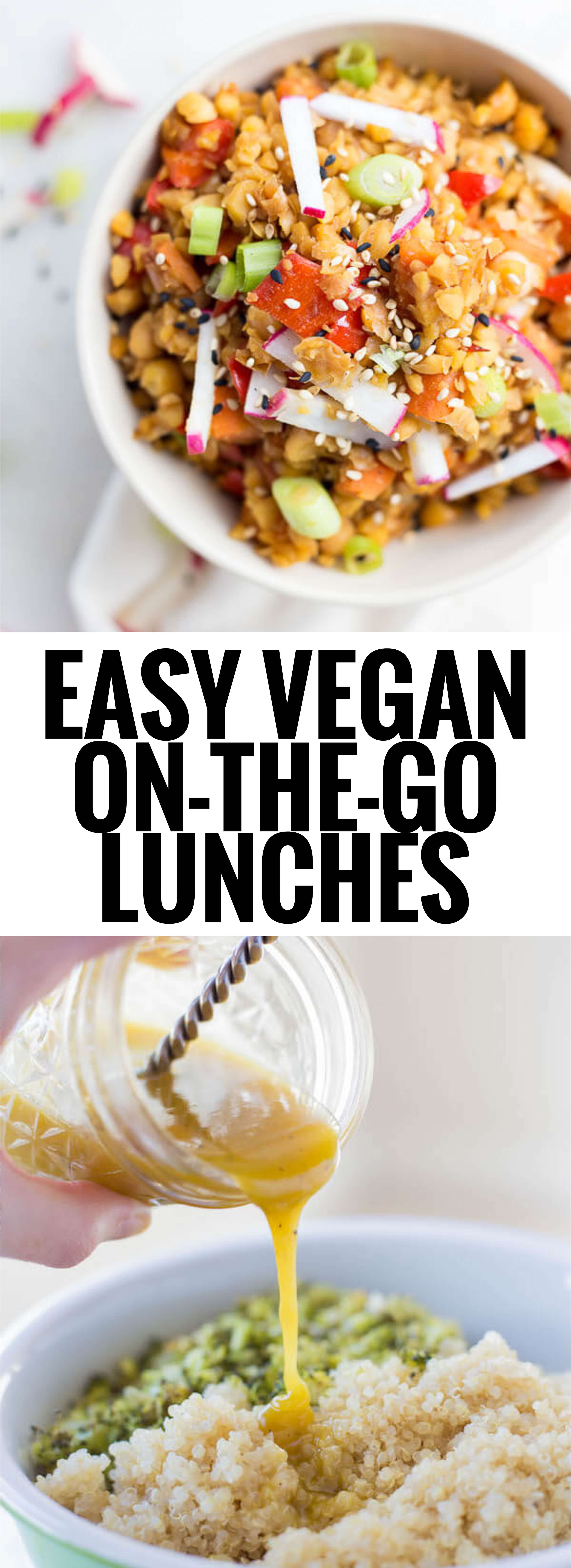 Easy Vegetarian Lunch Recipes  Easy Vegan the Go Lunches Fooduzzi