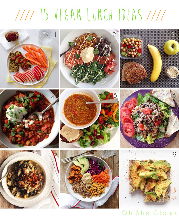 Easy Vegetarian Lunch Recipes  15 Vegan Lunch Ideas — Oh She Glows