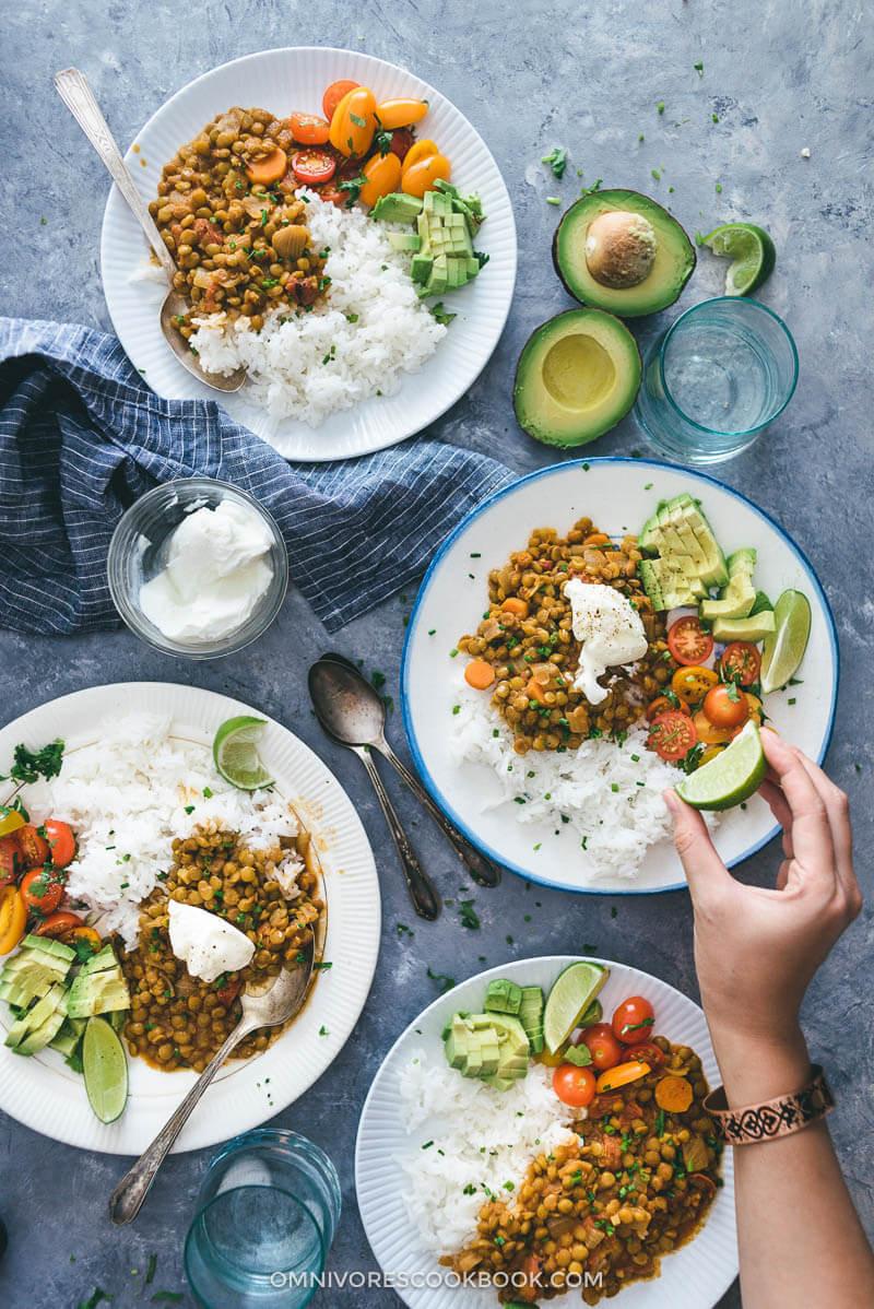 Easy Vegetarian Lunch Recipes  Easy Ve arian Lentil Stew