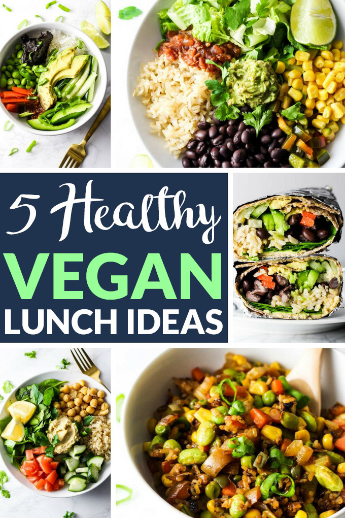Easy Vegetarian Lunch Recipes  5 Healthy Vegan Lunch Ideas