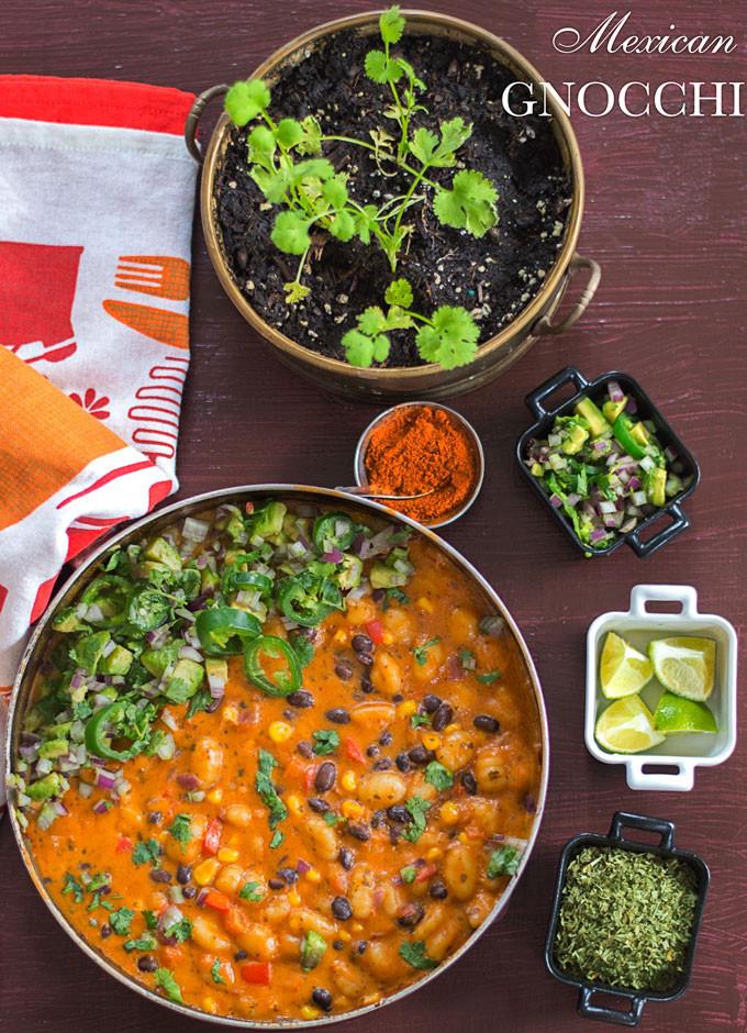 Easy Vegetarian Mexican Recipes  Mexican Gnocchi