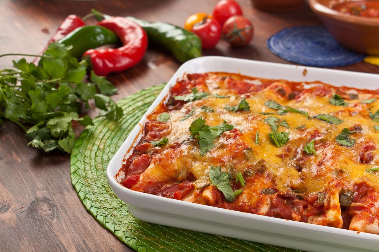 Easy Vegetarian Mexican Recipes  Mexican Ve arian Bean & Cheese Enchiladas Recipe by