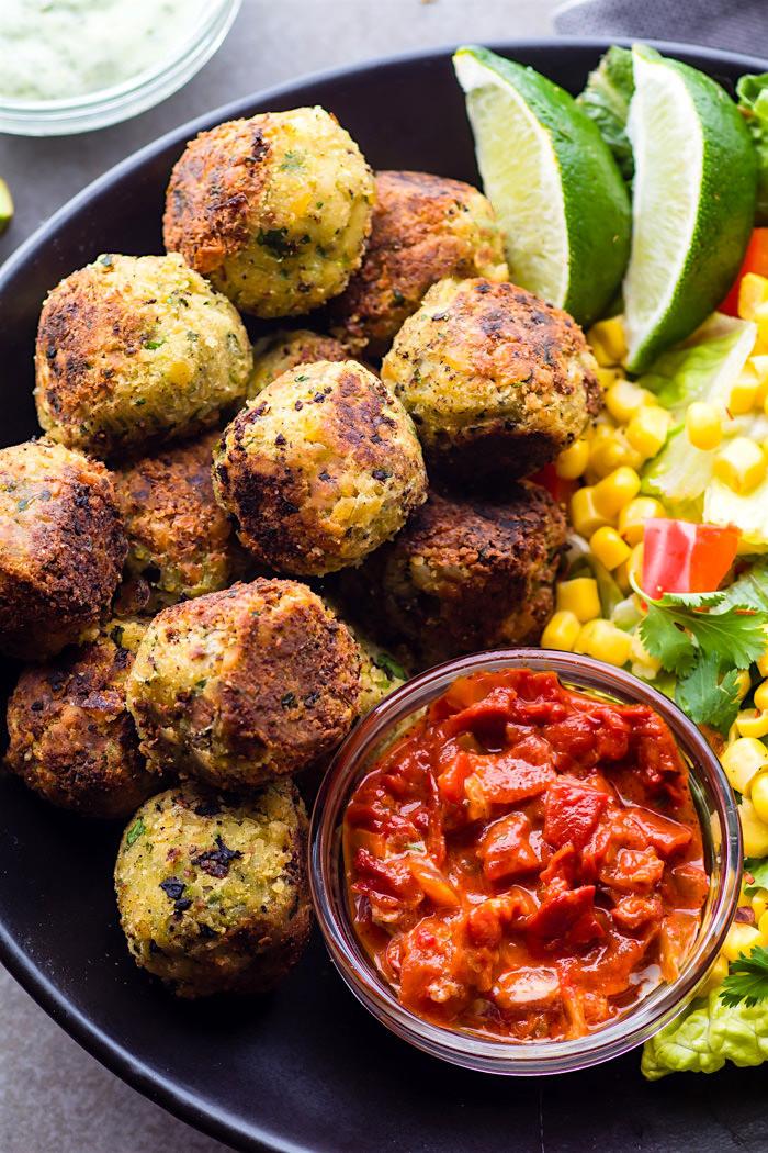 Easy Vegetarian Mexican Recipes  Easy Mexican Vegan Falafel Bites Gluten Free