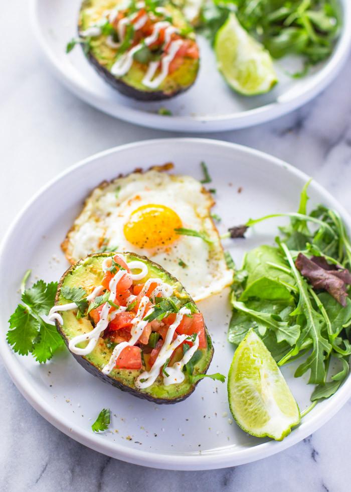 Egg Diet Recipes For Weight Loss  Weight loss Salsa Stuffed Avocado & Eggs Breakfast Paleo