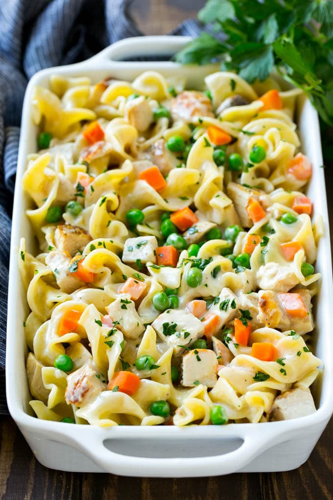 Egg Noodle Casserole Recipes Vegetarian  Chicken Noodle Casserole Dinner at the Zoo