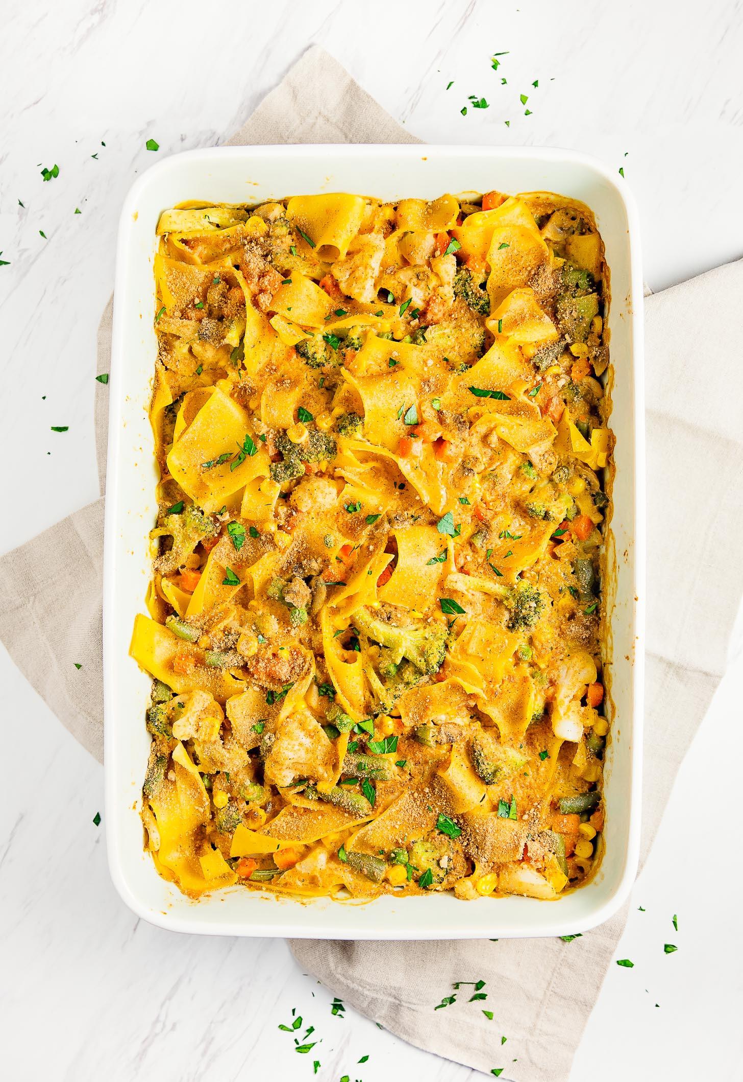 "Egg Noodle Casserole Recipes Vegetarian  Vegan ""Tuna"" Noodle Casserole Monkey and Me Kitchen"