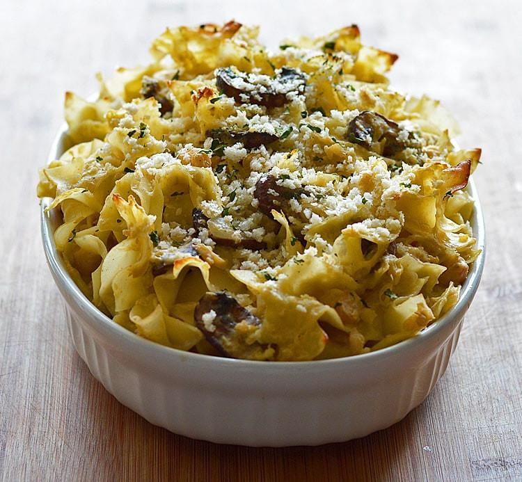 Egg Noodle Casserole Recipes Vegetarian  Chickpea Noodle Casserole Vegan TheVegLife