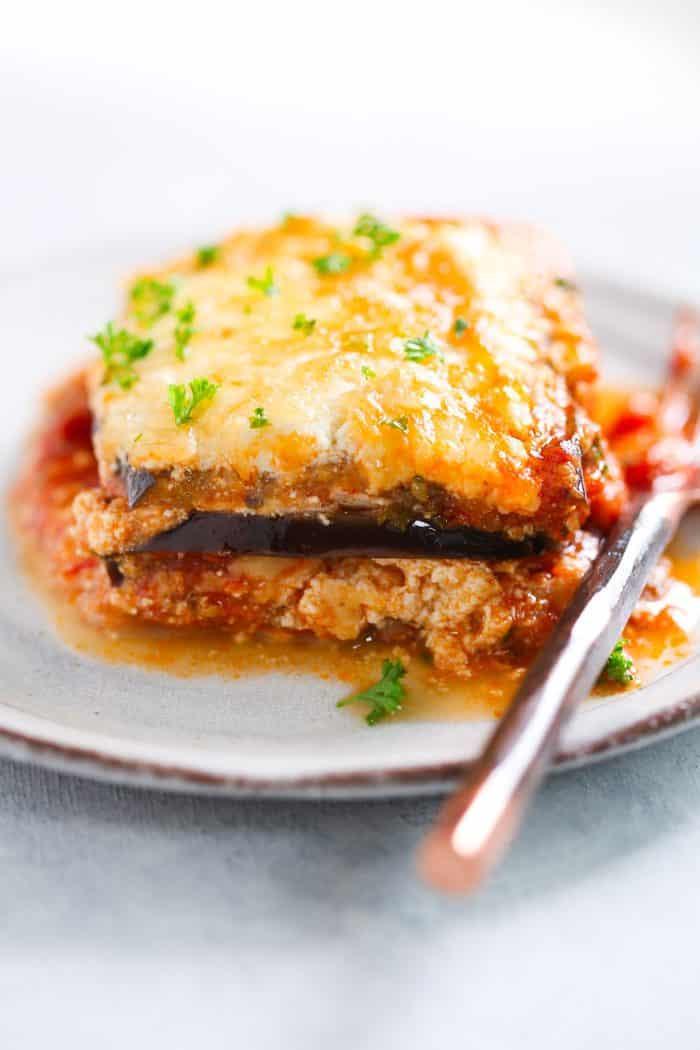 Eggplant Low Carb Recipes  eggplant lasagna low carb