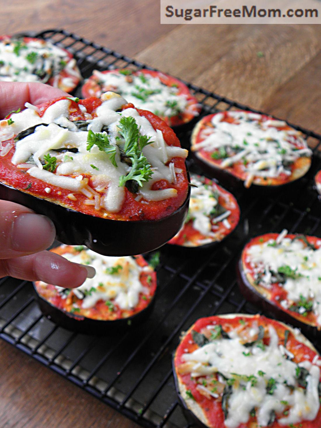 Eggplant Low Carb Recipes  Low Carb Eggplant Pizzas