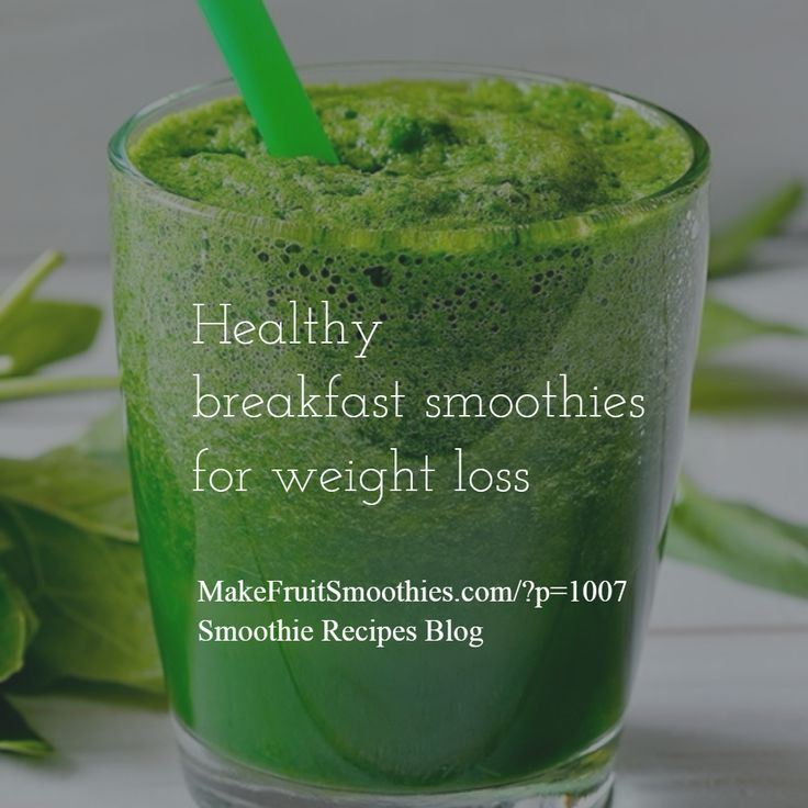 Free Healthy Smoothie Recipes For Weight Loss  Try our low calorie healthy breakfast smoothies for weight