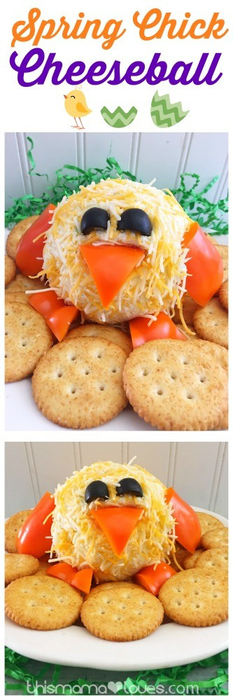 Fun Easter Appetizers  Easter Appetizer Chick Cheeseball Recipe