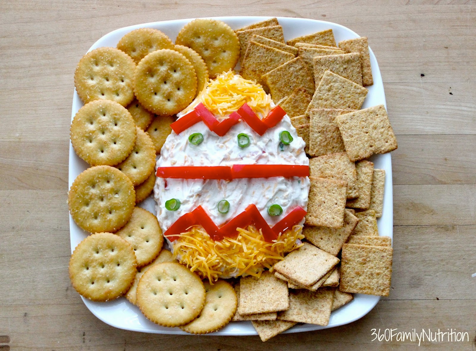 Fun Easter Appetizers  360FamilyNutrition Easter Egg Greek Yogurt Cheese Dip